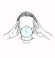 young woman with no face in medical face mask vector image