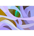 stained glass with floral abstract pattern vector image