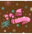 Warm winter clothes hand drawn vector image