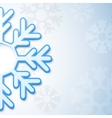 Abstract christmas snowflake background vector image