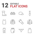 12 wear icons vector image vector image