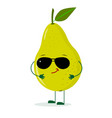 a cute pear green character in the style of a vector image
