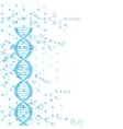 Abstract background with DNA molecule structure vector image vector image