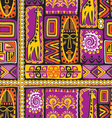 afrikan pattern 3 vector image vector image