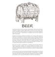 ale or beer wood firkin monochrome sketch poster vector image vector image