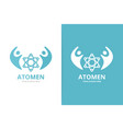 atom and people logo combination molecule vector image