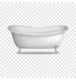 bathtub mockup realistic style vector image