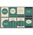 Big Collection Set of Retro Vintage Background vector image vector image