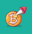 bitcoin coins design vector image vector image