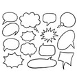 black and white speech bubble isolated icon set vector image