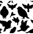 black silhouette seamless pattern icon set vector image vector image