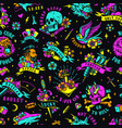 bright colorful tattoos seamless pattern vector image vector image