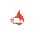 burn delivery logo icon design vector image vector image