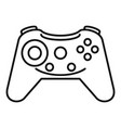 button gamepad icon outline style vector image vector image