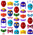 cartoon superhero mask seamless pattern background vector image vector image