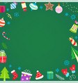 christmas banner with different holiday vector image