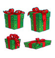 christmas cartoon icon set - four present boxes vector image vector image