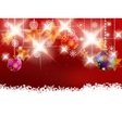 Christmas decoration on blur red vector image