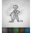 clown icon Hand drawn vector image vector image