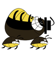 cockroach run cartoon vector image vector image