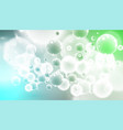 colorful realistic 3d bubbles vector image