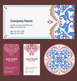 Corporative Business Cards Design Set and Envelope vector image vector image