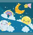 cute weather cartoon vector image vector image