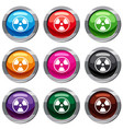 danger nuclear set 9 collection vector image vector image