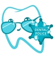 Dental Police Cop With A Badge vector image
