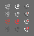 emergency call filled outline icon medicine and vector image vector image
