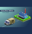 factory direct delivery vector image vector image