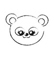 figure cute wild animal face with expression vector image vector image