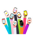 flat design concept for mobile apps vector image vector image