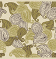 flower paisley seamless pattern vector image