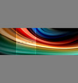 fluid colors abstract background colorful poster vector image vector image