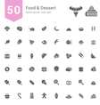 Food and Dessert Solid Icon Set vector image vector image