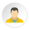 Full male avatar icon flat style vector image vector image