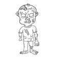 Funny zombie page for coloring book
