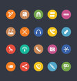 Glyphs Colored Icons 14 vector image vector image