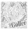 Golf Terminology Word Cloud Concept vector image vector image