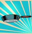 griddle frying pan skillet saucepan kitchen vector image vector image