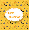 happy halloween icon pattern background vector image vector image