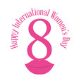 happy international womens day eight lips vector image vector image