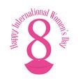 happy international womens day eight lips vector image