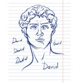 head david michelangelo vector image vector image