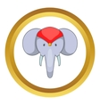 Head of decorated elephant icon vector image