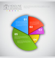 headline infographic chart pie diagram design vector image