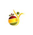 Healthy life logo design template