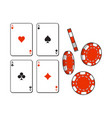 heart spade clubs diamond ace playing cards and vector image vector image