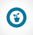 houseplant bold blue border circle icon vector image vector image